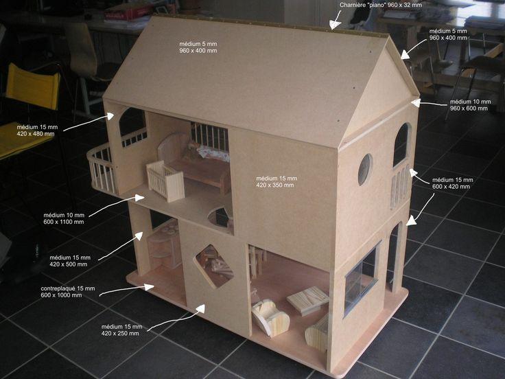 Plans et explications pour fabrication de maisons de poup es barbie photos casitas de mu ecas - Plan de maison de barbie ...