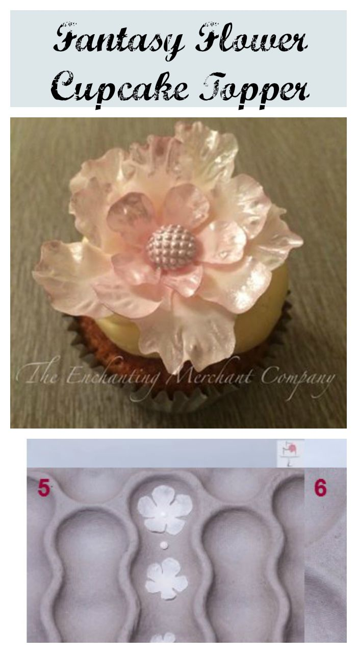 Fantasy flowers are the current trend; be it gum paste or wafer paper. This pretty gumpaste fantasy flower cupcake topper tutorial is today's Tip Thursday.