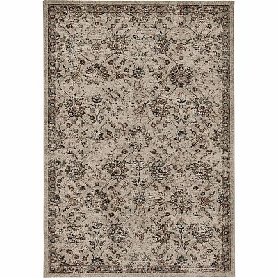 Traditional flowery, nature inspired patter for 'Dark Flowery Fedora' rug