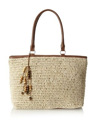 48% OFF Straw Studios Women's Woven Tote, Natural