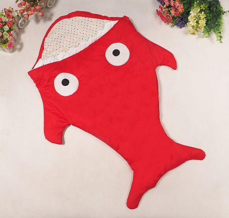 2016 NEW Cute Slaapzak Warm Shark Baby Sleeping Bags 3 Colors