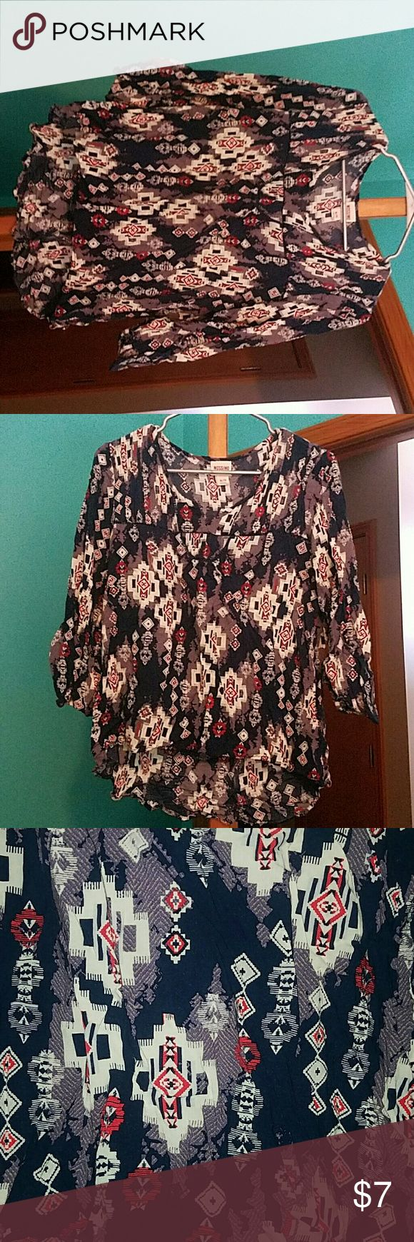 aztec blouse aztec design. good condition Mossimo Supply Co. Tops