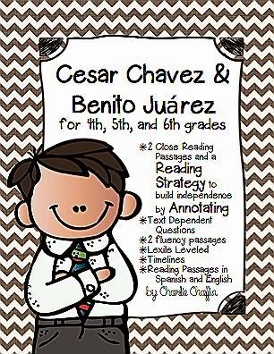 Close Reading Passage and Reading Strategy. Benito Juarez & Cesar Chavez. Both have a birthday March.