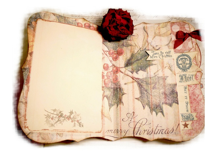 Christmas Memory Journal Handmade Scrapbook  by lacegrl130 on Etsy, $20.00