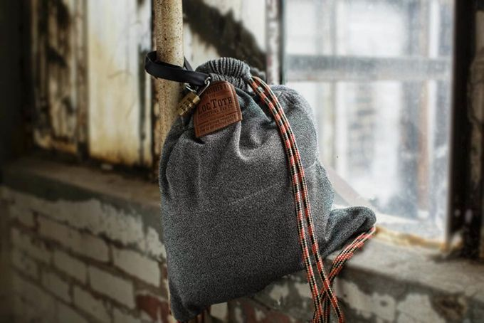 The Theft-Proof Drawstring Backpack by LOCTOTE INDUSTRIAL BAG CO. — Kickstarter