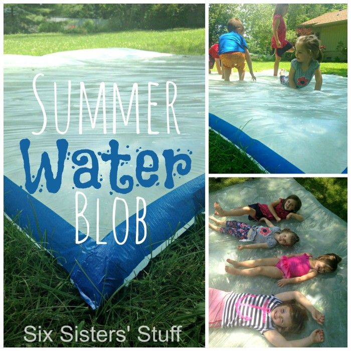 Entertain your kids this summer with this awesome Summer Water Blob! #sixsistersstuff