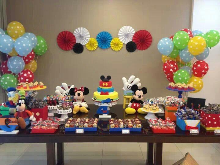 Festa turma do mickey 8 postres pinterest cumple for Decoracion de oficinas juveniles
