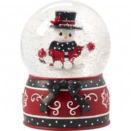"""""""May All Your Christmases Be White"""", Eighth in Annual Snowman Series, Musical Snow Globe, Resin/Glass"""
