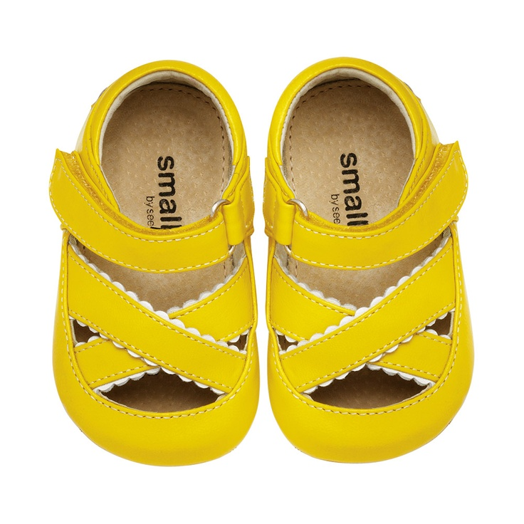 Adele Criss-Cross Sandal: Baby Girls Shoes, Summer Sandals, Yellow Sandals, Criss Crosses Sandals, Baby Sandals, Adele Criss Crosses, Yellow Shoes, Cute Baby Shoes, Sweet Fashion