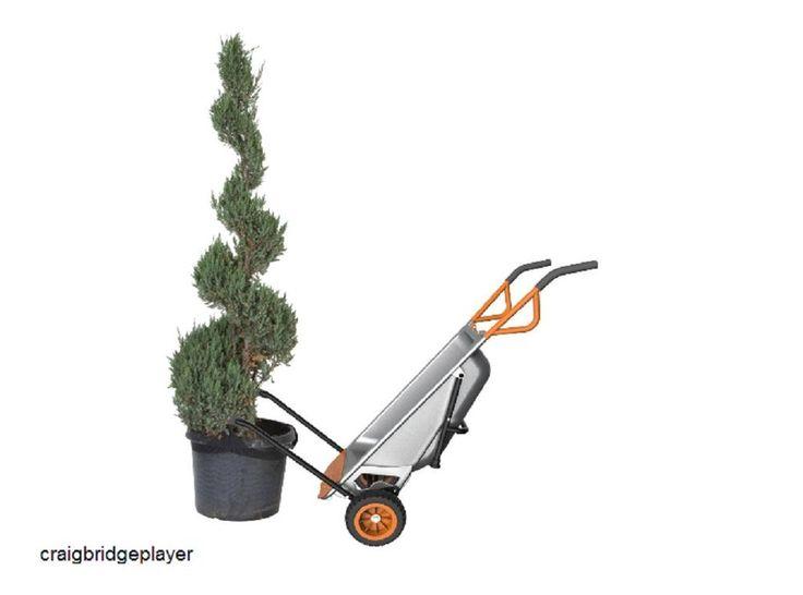 Multifunction Wheelbarrow Lawn Garden Yard Utility Trolley Tool Dolly and Cart #Worx