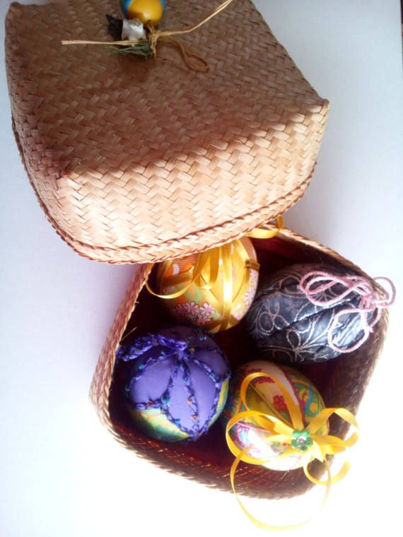Set of any 4 colourful handmade easter fabric by mademeathens