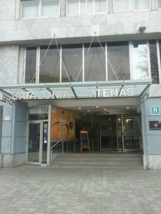 Hotel Catalonia Atenas in Barcelona, Cataluña. Our final hotel destination Barcelona, Spain!