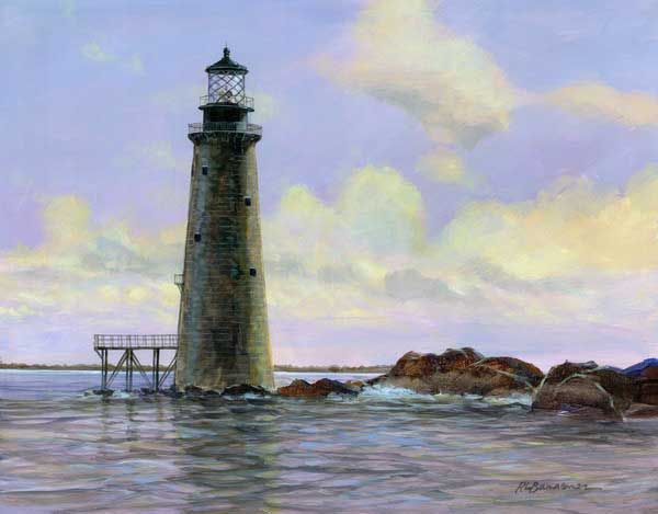 Graves Lighthouse, outer Boston Harbor, near Winthrop, MA ~ USA
