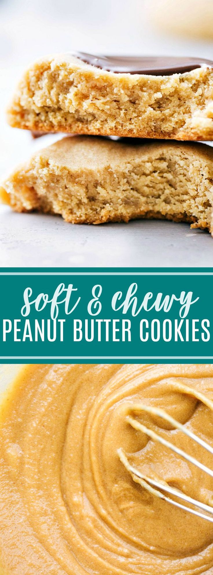 The ULTIMATE, tested-to-perfection, soft and chewy PEANUT BUTTER COOKIES dipped in chocolate. Everyone goes crazy for these cookies!