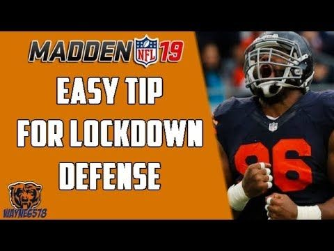 HOW TO PLAY LOCKDOWN DEFENSE IN MADDEN 19 - STOP EVERY RUN