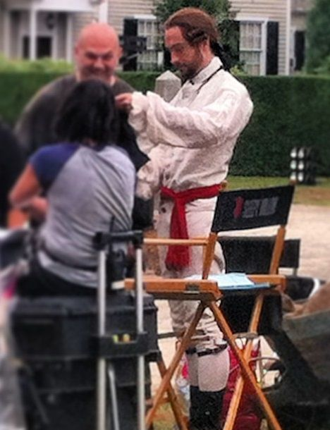 Sleepy Hollow BTS Photo of Tom Mison | Tryon Palace in New Bern, NC | September 24 & 25, 2013
