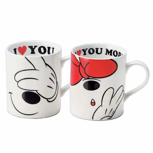 「ミッキー&ミニー ペアマグセット マグカップ2個セット ラブメッセージ ディズニー キャラクターグッズ通販」の商品情報やレビューなど。