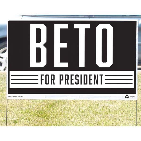 beto yard sign
