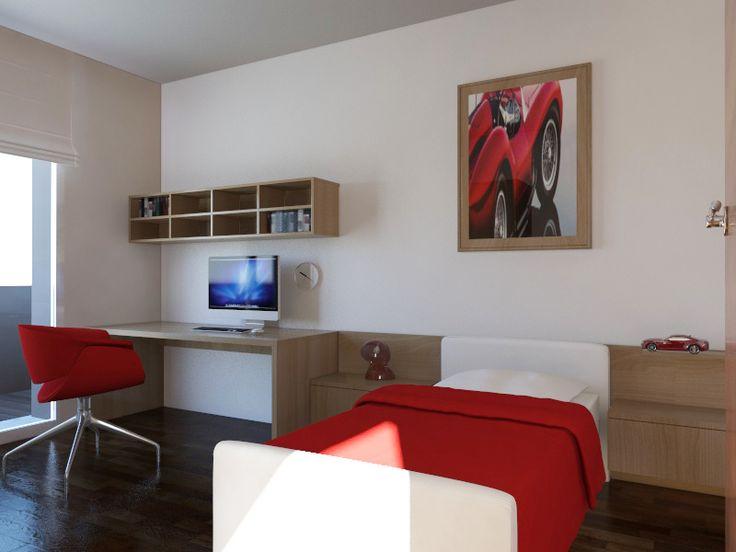 camera figlio con terrazza sopra il garage - Massimo Rinaldo architetto