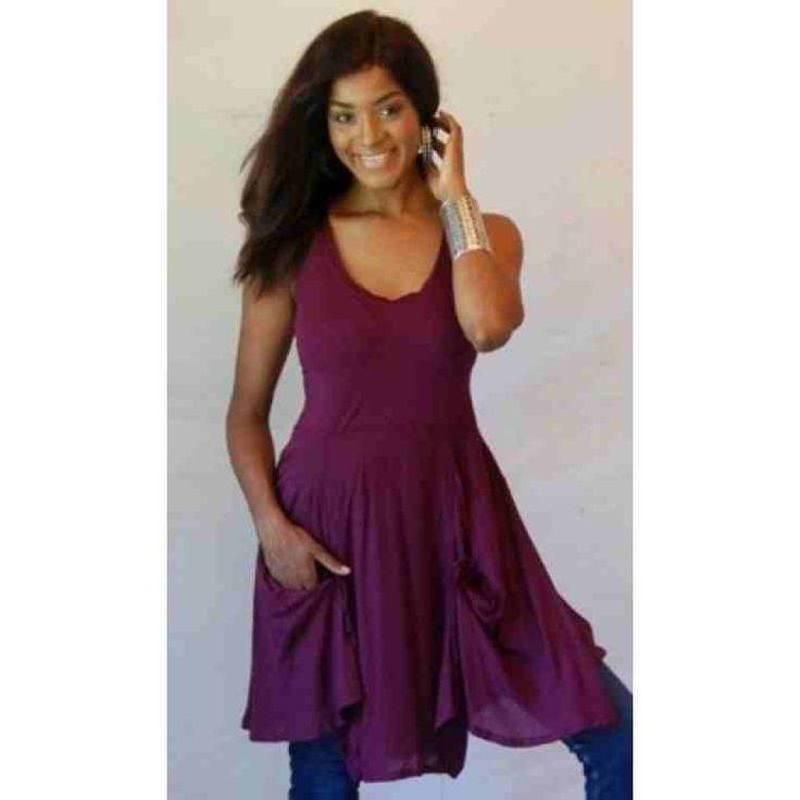 PRE-ORDER - Cute Pocket Detail Mini Dress or Tunic Top (Plum Purple) $61.00 http://www.curvyclothing.com.au/index.php?route=product/product&path=95_97&product_id=9310