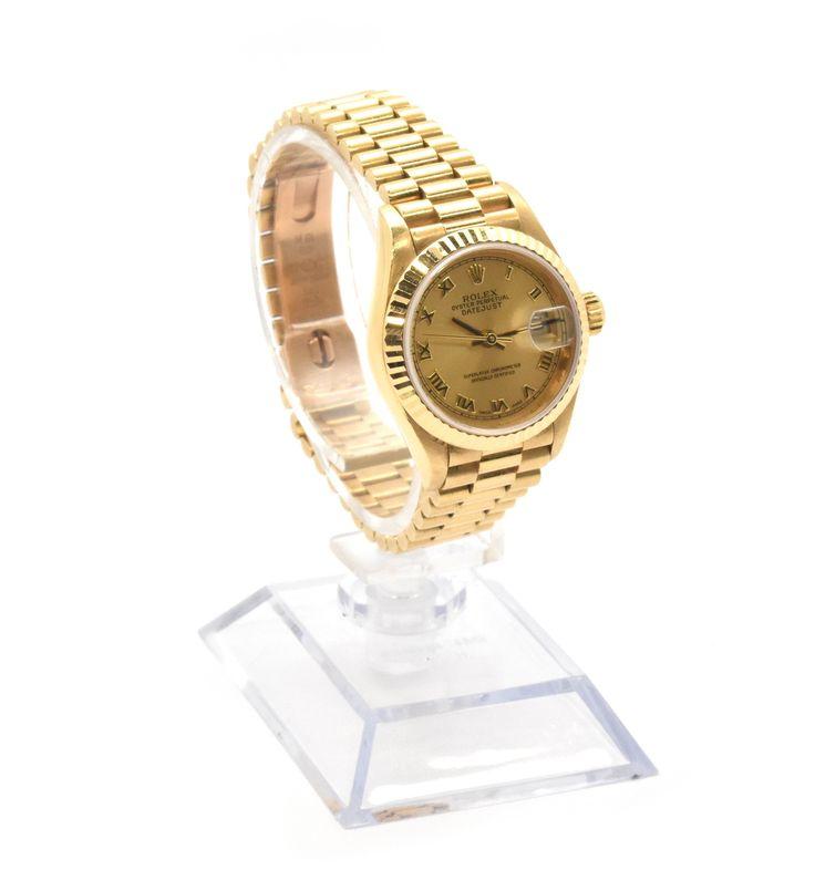 Ladies 18k Yellow Gold Rolex Presidential Watch Ref. 79178