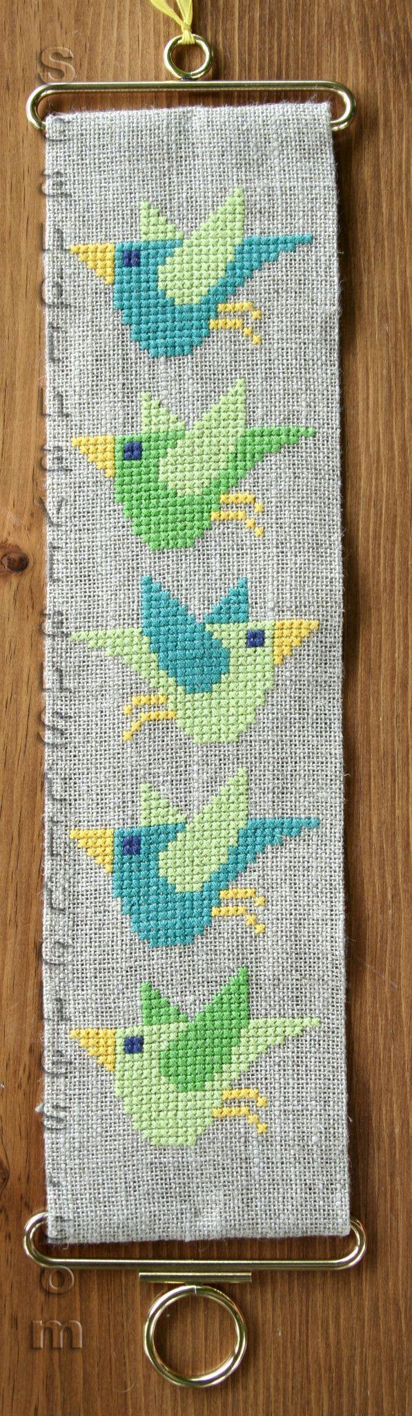 Bird Bell Pull - Danish Cross Stitch