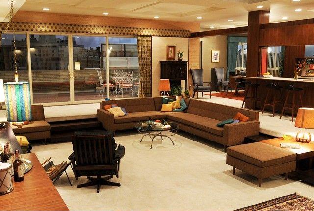 All the Best Interiors From Mad Men Sets Matthew Batista