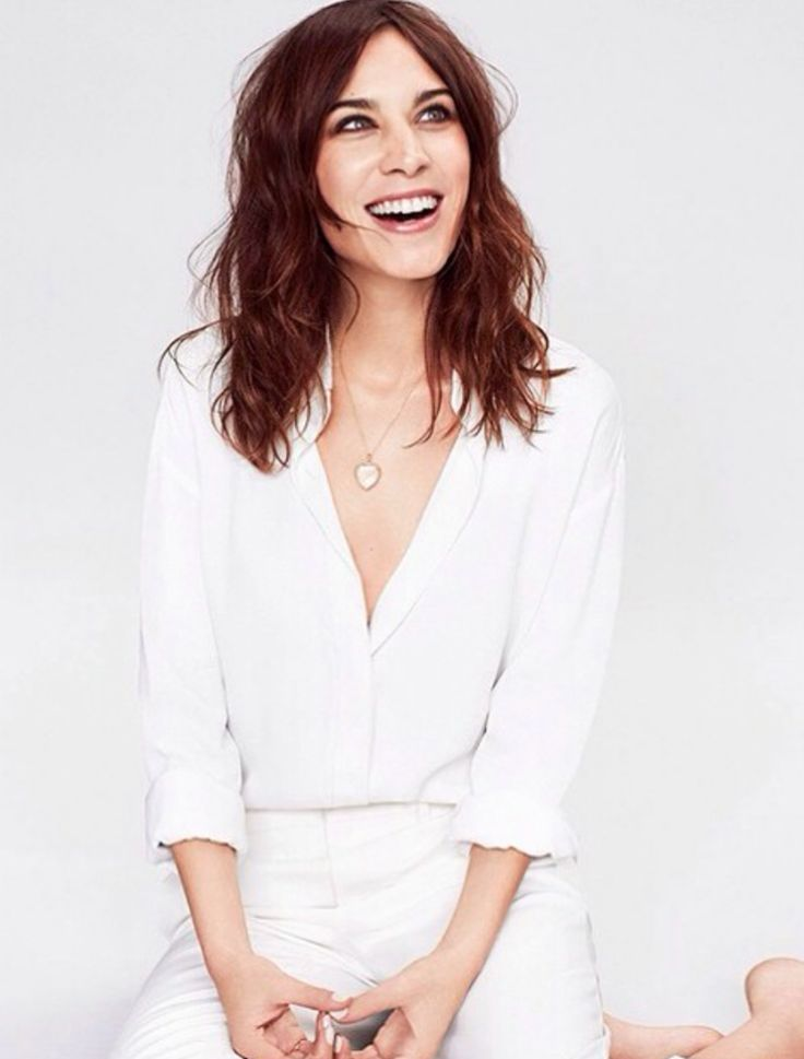 Bright eyed Alexa Chung wearing #loquetlondon. #locket