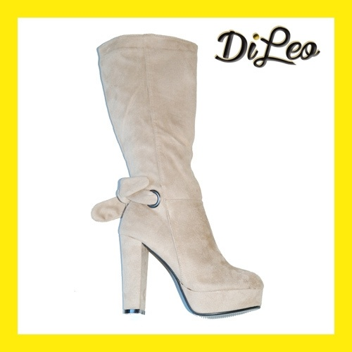Beige High Heel Boots 58-2 on my Fashion United!  At great price!!  Italian design.  www.dileocalzature.it