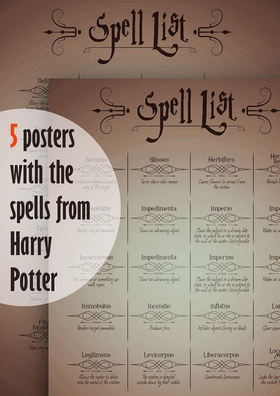 list of harry potter spells pdf