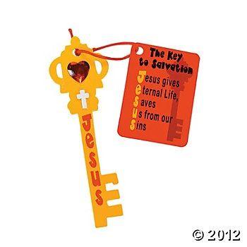 Jesus Is The Key Craft | Библейские поделки | Pinterest | Key Crafts, Jesus Is and The Keys