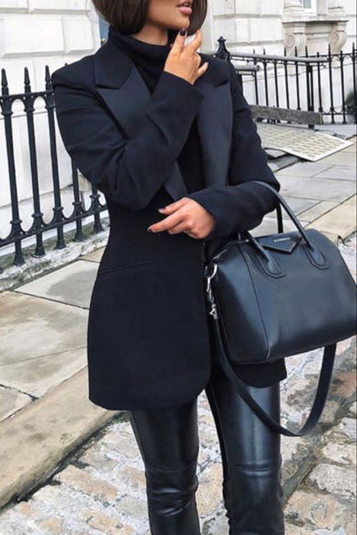 8f671cb81da Mode femme automne hiver tenue classe avec un blazer noir