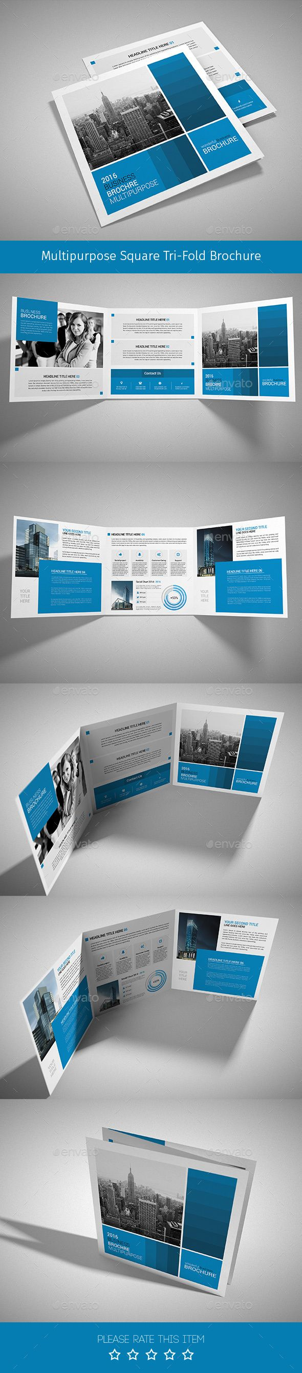 Corporate Tri-fold Square Brochure 07