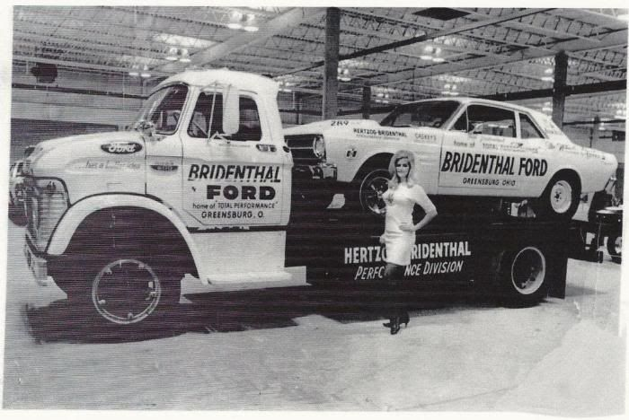 Orlando Ford Dealers >> 1963 Ford N-Series single car hauler, with Bridenthal Ford of Greensburg Ohio, Ford Team racecar ...