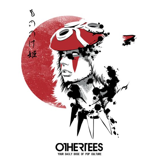 """RED SUN PRINCESS"" by DDJVIGO T-shirts, Tank Tops, V-necks, Hoodies and Sweatshirts are on sale until October 4th at www.OtherTees.com #tshirt #othertees #clothes #popculture #mononoke #princessmononoke #ghibli #studioghibli #miyazaki #hayaomiyazaki"