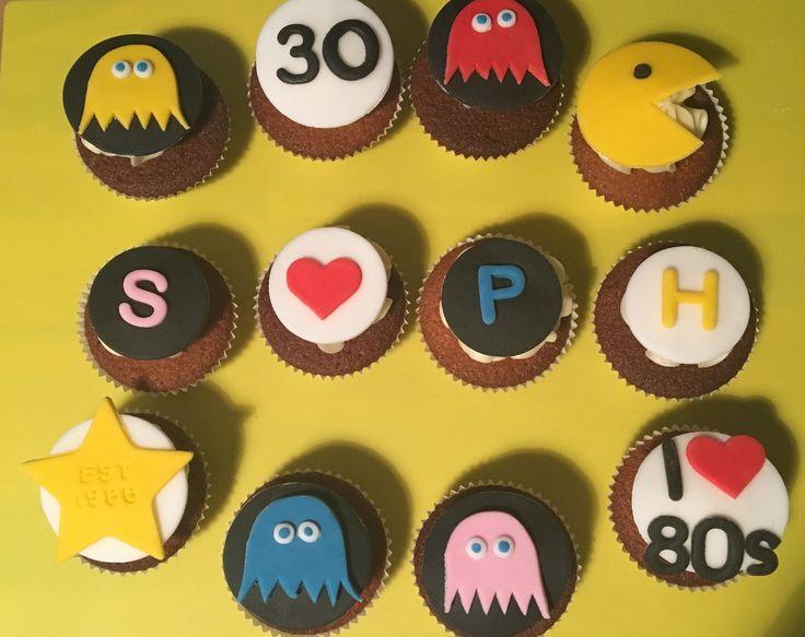 PAC man cupcakes 30 retro
