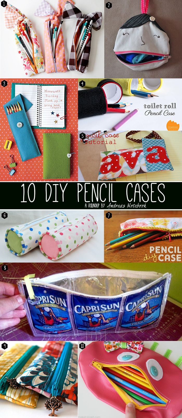 Katherine Unique - fashion and lifestyle: Back To School - more than 40 DIY ideas for Pencil Case