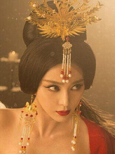 Ancient Princess Phoenix Hair Accessory And Earrings