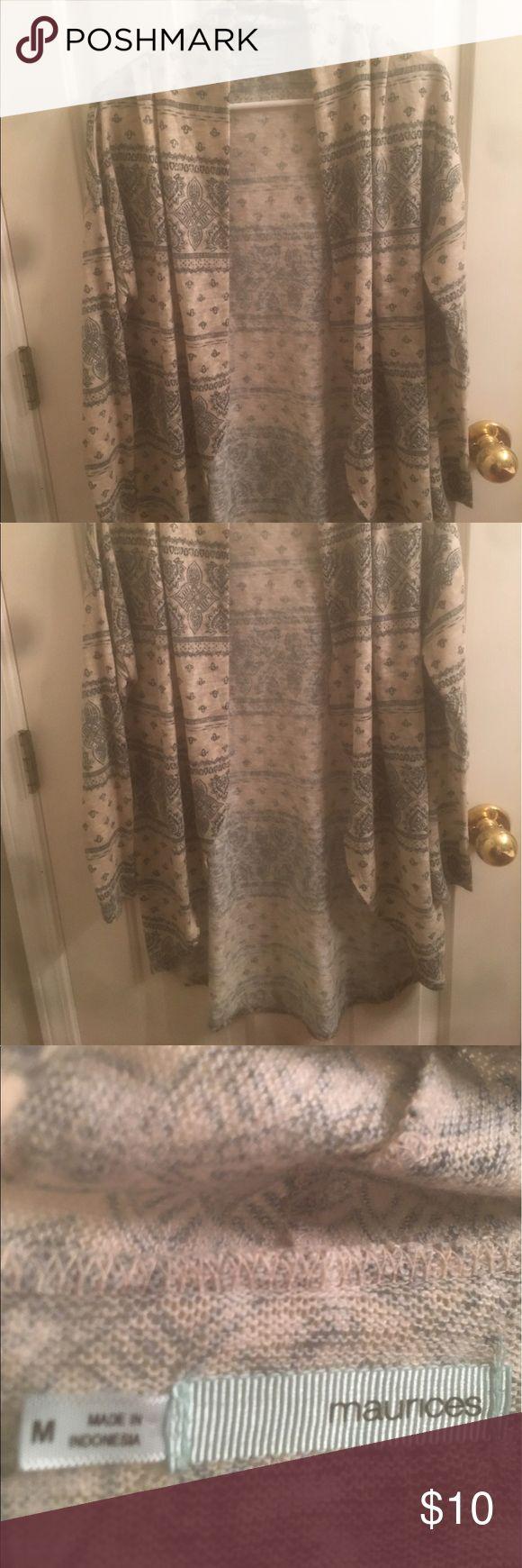 Maurice's long tribal cardigan, medium Medium women's Maurice's Tribal print cardigan, long back, long sleeve Maurices Sweaters Cardigans