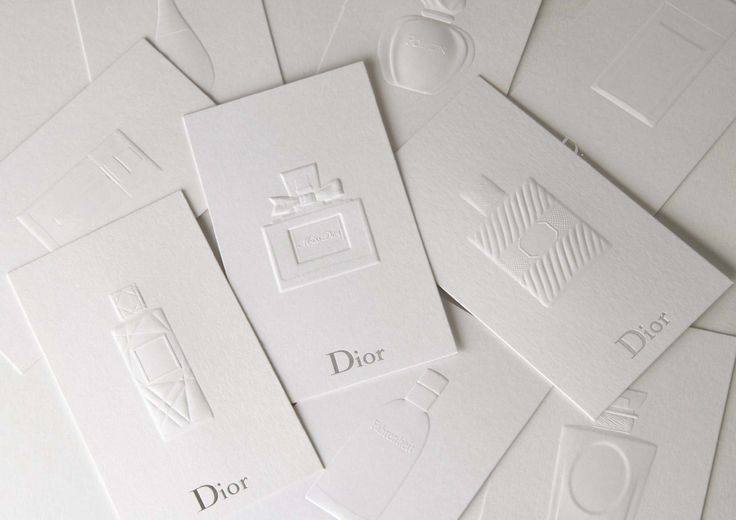 dior embossing