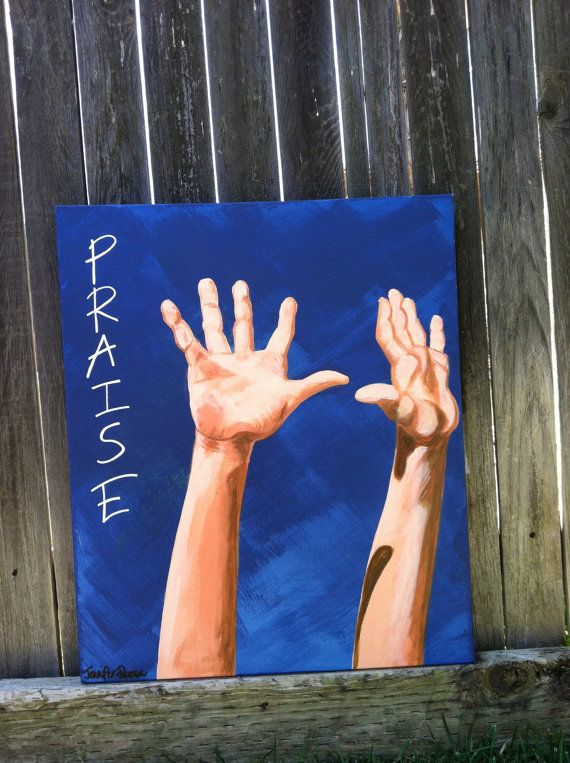 "Love this!  ""Praise""  Original acrylic painting on gallery style canvas 18""x24"" Inspirational Christian realism. $100.00, via Etsy."