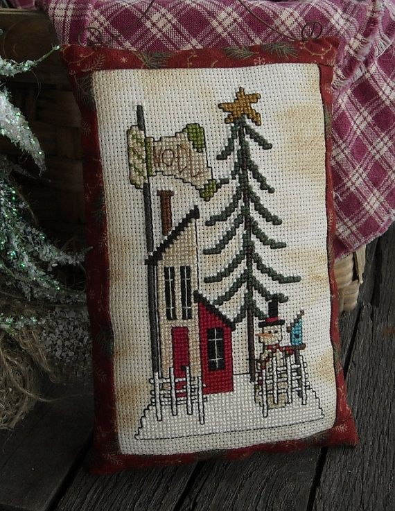 Primitive House Cross Stitch e Pattern por kimberleeannPrims