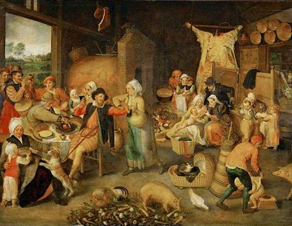 Marten van Cleve (Alemania, 1527-1581). Flemish household,  c.1555-60.
