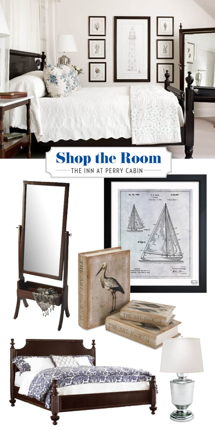 Bring home a traditional, New England look by shopping the Inn at Perry Cabin! | coastalliving.com