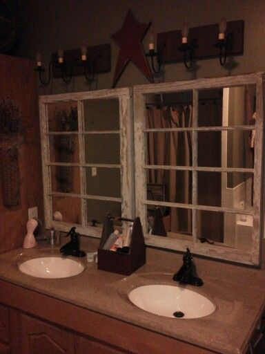 Old Windows repurposed into mirrors... only for a guest bathroom in my mind :-)