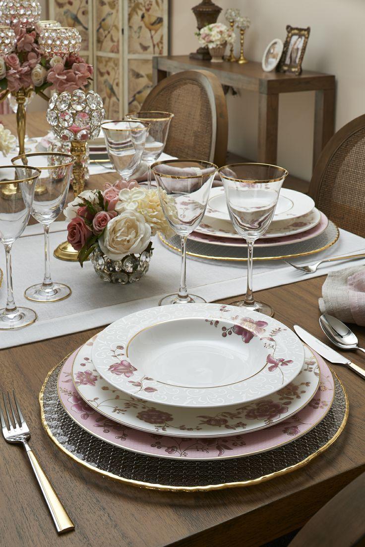 Golden Peony Yemek Takımı / Dinnerware Set  #bernardo #goldenpeony #porselenyemektakimi #porcelain #dinnerwareset #tabledesign