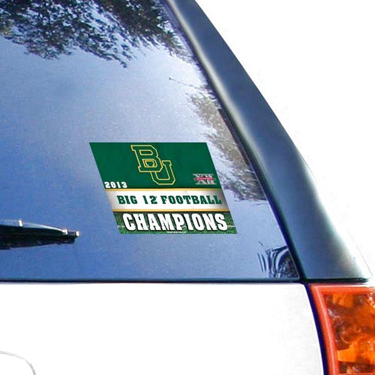 "Baylor Bears 2013 Big 12 Football Champions 4.5"" x 6"" Ultra Decal Cling - $2.84"