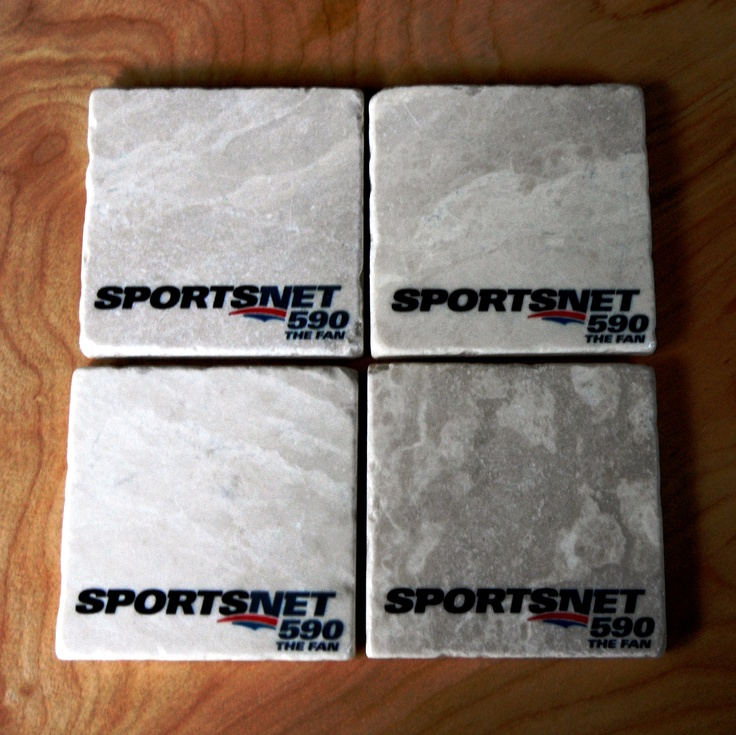 Custom #Sportsnet #Fan590 coasters