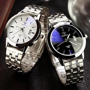 Luxury MEN'S Date Sport Analog Stainless Steel Bracelet Quartz Dial Wristwatch   eBay
