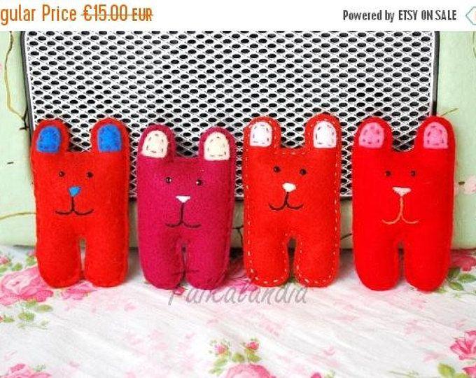 ON SALE Kids Felt Brooch - Kids Gift - Soft Brooch - Handmade Bear - Bear Gift - Bear Pin - Emroidered Brooch - Kids Jewelry - Bear Brooch-